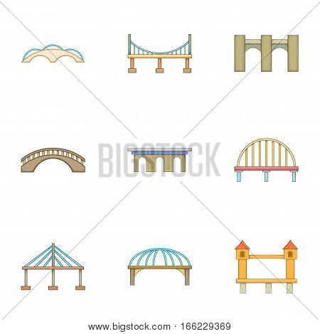 Urban construction icons set. Cartoon illustration of 9 urban construction vector icons for web