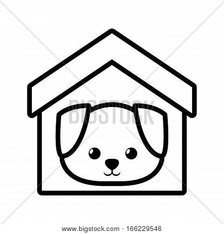 dog canine young house pet outline vector illustration eps 10