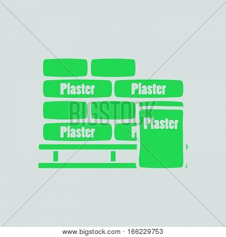 Palette With Plaster Bags Icon