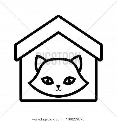 cat nose funny animal house pet outline vector illustration eps 10