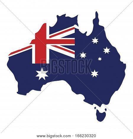 map australian flag background vector illustration eps 10