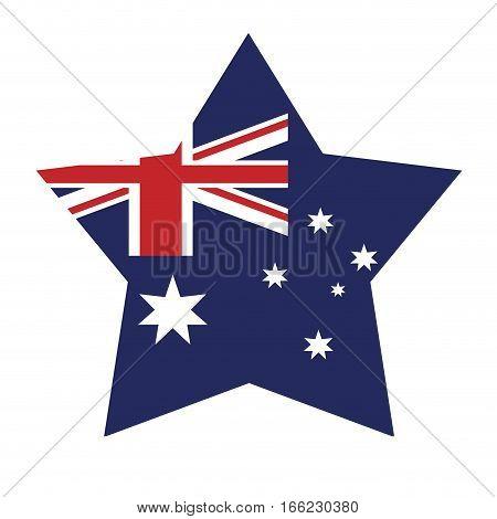 australian flag shape star icon vector illustration eps 10