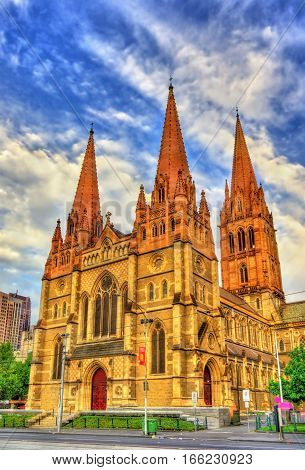 St Paul's Cathedral, an Anglican cathedral in Melbourne, Australia