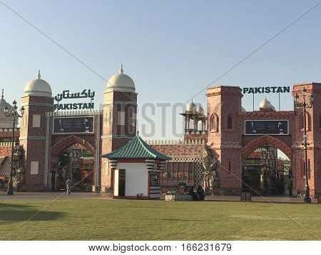 Pakistan pavilion at Global Village in Dubai, UAE, as seen on Jan 11, 2017. The Global Village is claimed to be the world's largest tourism, leisure and entertainment project.