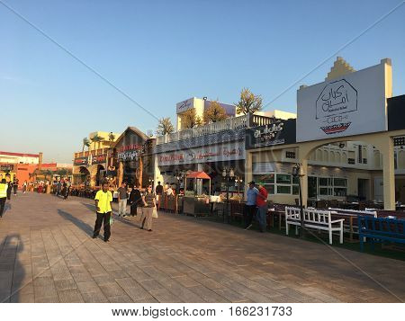 DUBAI, UAE - JAN 11: Global Village in Dubai, UAE, as seen on Jan 11, 2017. The Global Village is claimed to be the world's largest tourism, leisure and entertainment project.