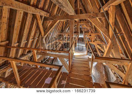 Attic Ceiling An Old Church