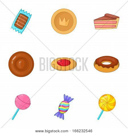 Confectionery and desserts icons set. Cartoon illustration of 9 confectionery and desserts vector icons for web