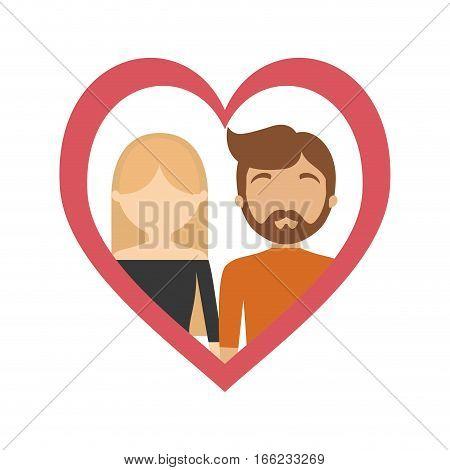 couple love frame heart relationship vector illustration eps 10