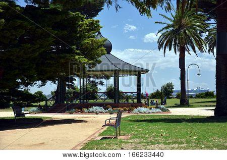 Pavillion in the middle of Catani Gardens (St Kilda Melbourne Australia)