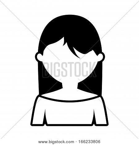avatar woman style modern outline vector illustration eps 10