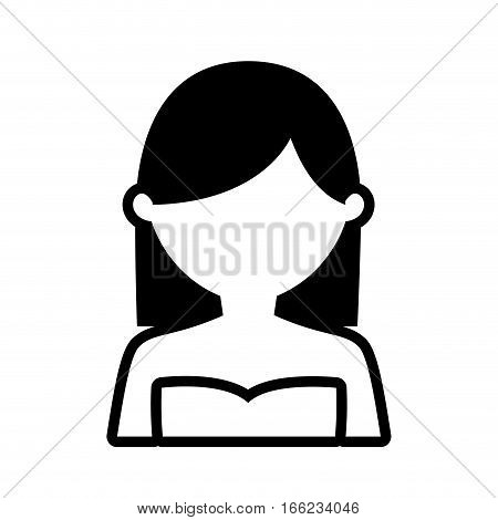 avatar woman picture profile outline vector illustration eps 10
