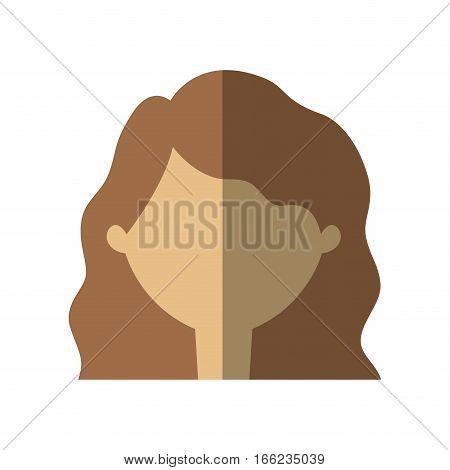 avatar woman face shadow vector illustration eps 10