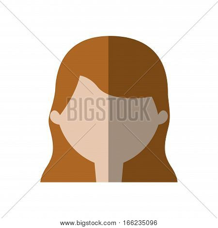 avatar woman face employee work shadow vector illustration eps 10