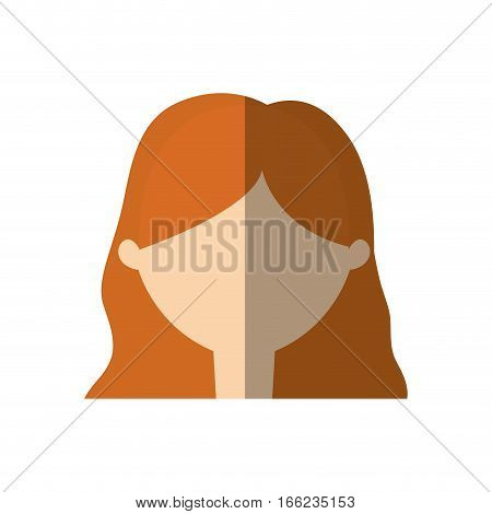 avatar woman face young person shadow vector illustration eps 10