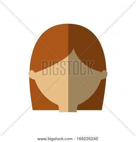 avatar woman face head graphic shadow vector illustration eps 10