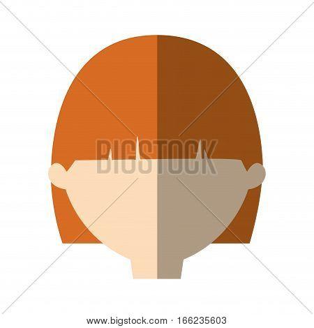 avatar woman face short hair modern shadow vector illustration eps 10