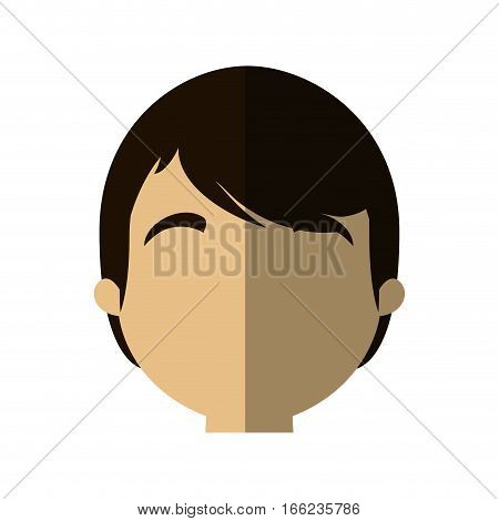 character face man male young shadow vector illustration eps 10
