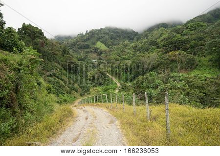 gravel road in Panama's highlands by Boquete