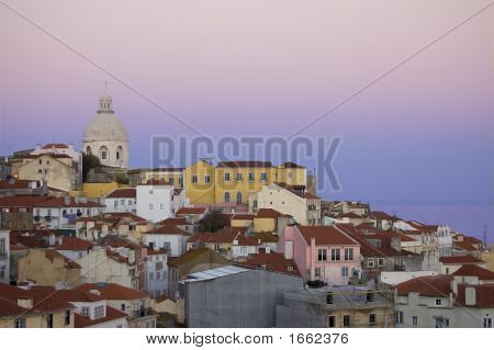 Old Lisbon At Sunset