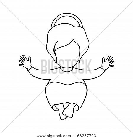 silhouette picture of baby jesus vector illustration