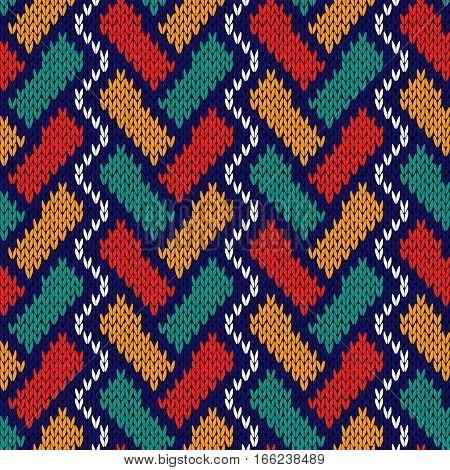 Knitting Intertwined Seamless Pattern