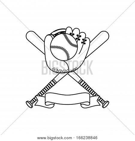 Baseball sport game icon vector illustration graphic design