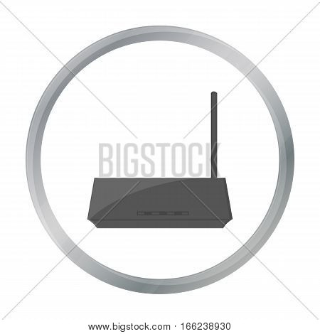 Router icon in cartoon style isolated on white background. Personal computer symbol vector illustration. - stock vector