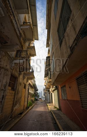 June 25 2016 Panama CityPanama: while the capital city is known for its shiny new constructions and money laundering banks, there are very poor areas with narrow dark back alleys