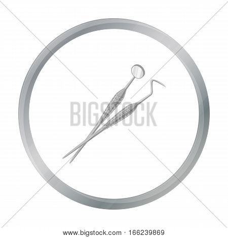 Dental instruments icon in cartoon style isolated on white background. Dental care symbol vector illustration. - stock vector
