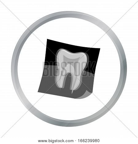Dental x-ray icon in cartoon style isolated on white background. Dental care symbol vector illustration. - stock vector