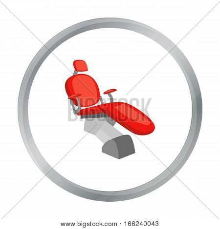 Dental chair icon in cartoon style isolated on white background. Dental care symbol vector illustration. - stock vector