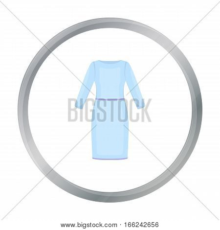 Long Dress icon of vector illustration for web and mobile design - stock vector