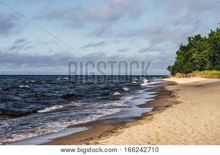 Sandy beach on the shores of Lake Superior