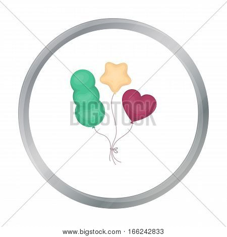 Baloons icon in cartoon style isolated on white background. Circus symbol vector illustration. - stock vector