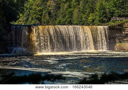 Upper Tahquamenon Falls in Upper Michigan in Tahquamenon State Park