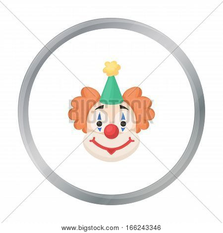 Clown icon in cartoon style isolated on white background. Circus symbol vector illustration. - stock vector