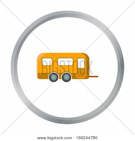 Caravan icon of vector illustration for web and mobile design - stock vector