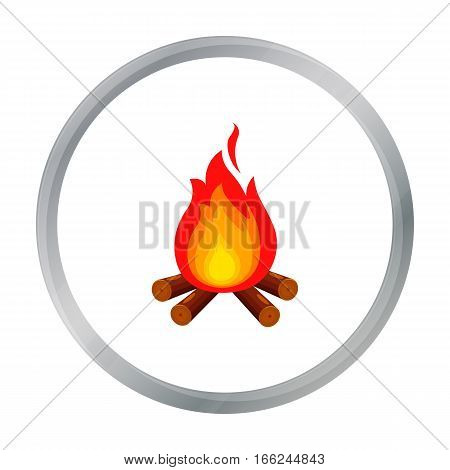 Campfire with firewood icon of vector illustration for web and mobile design - stock vector