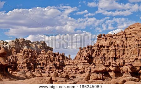 Hoodoos and pinnacles. Goblins Valley State Park. San Rafael Desert. Hanksville. Utah. United States.