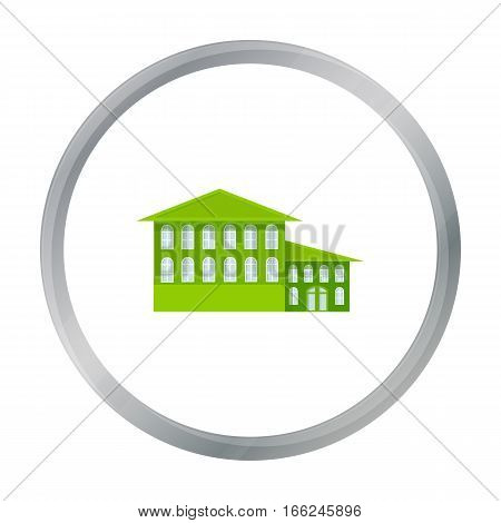 Hotel icon cartoon. Single building icon from the big city infrastructure cartoon. - stock vector