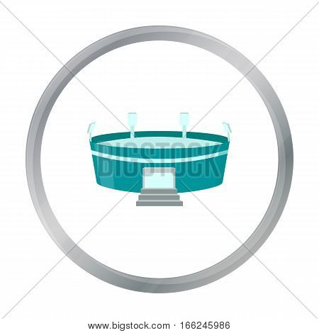 Stadium icon cartoon. Single building icon from the big city infrastructure cartoon. - stock vector