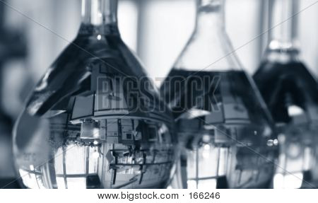 Flasks In Laboratory