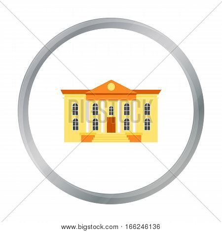 Museum icon cartoon. Single building icon from the big city infrastructure cartoon. - stock vector