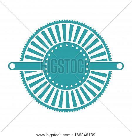 blue label abstract art deco emblem vector illustration