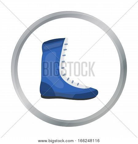 Boxing shoes icon in cartoon style isolated on white background. Boxing symbol vector illustration. - stock vector