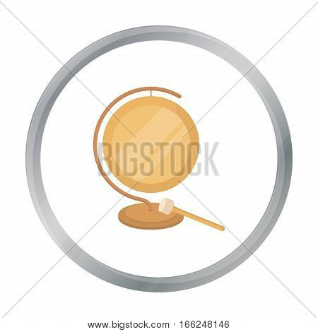 Boxing gong icon in cartoon style isolated on white background. Boxing symbol vector illustration. - stock vector