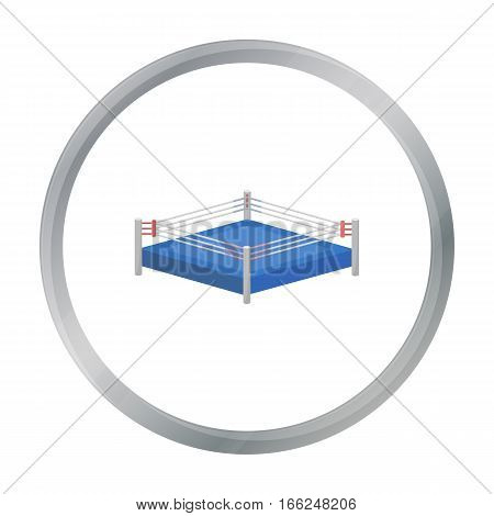 Boxing ring icon in cartoon style isolated on white background. Boxing symbol vector illustration. - stock vector