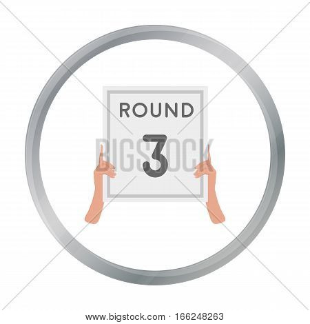 Boxing ring board icon in cartoon style isolated on white background. Boxing symbol vector illustration. - stock vector