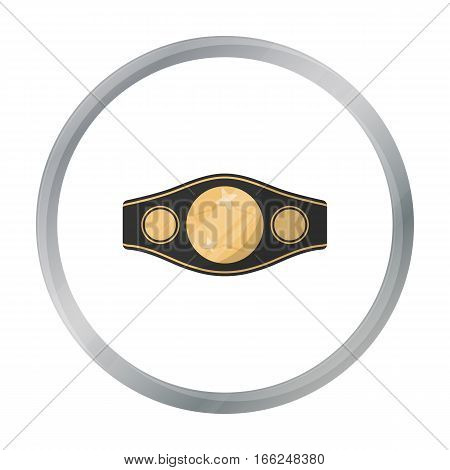 Boxing championship belt icon in cartoon style isolated on white background. Boxing symbol vector illustration. - stock vector