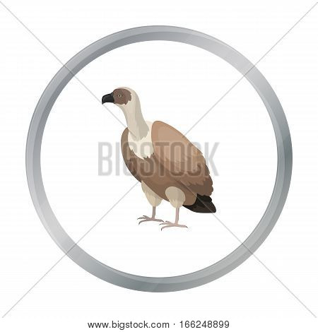 Vulture icon in cartoon style isolated on white background. Bird symbol vector illustration. - stock vector